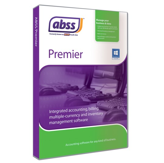 ABSS (Formerly known as MYOB) Premier Version 20 (Multi 3 Users)